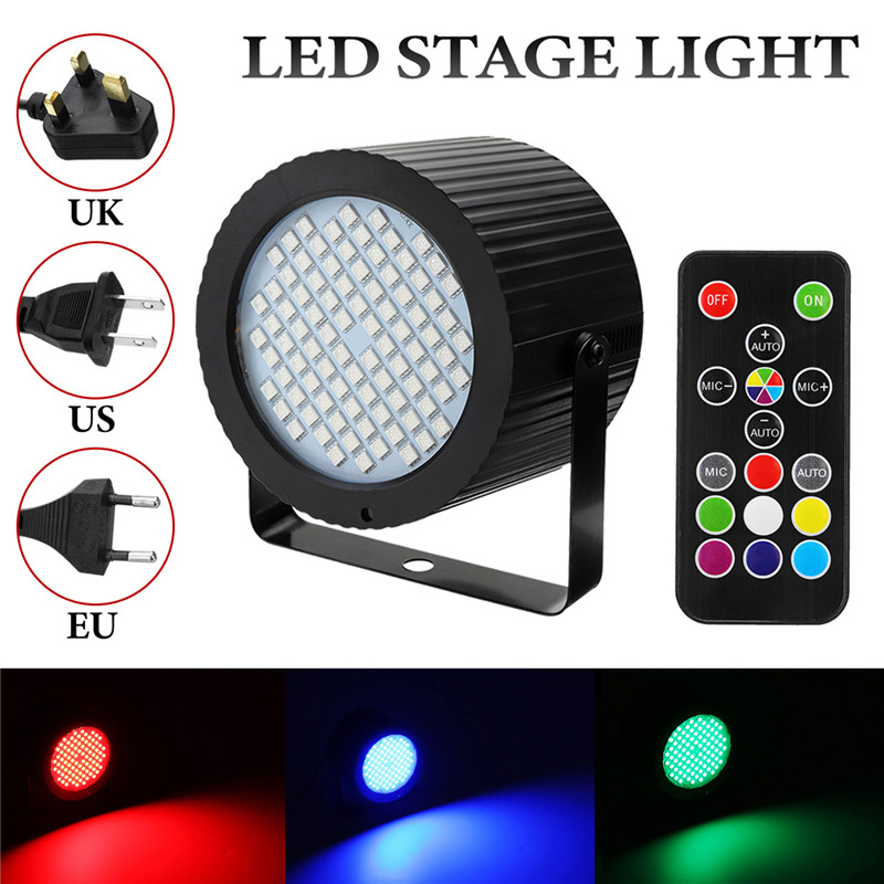 Smuxi 88 Led Par Stage Light 25W RGB Stage Effect Lighting Strobe Wash Par Light Remote Control Dimmable For Club Dj Home Party midi клавиатура 88 клавиш miditech i2 stage 88