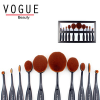 Oval Makeup Brush Set Professional 6pcs Synthetic Hair Makeup Brushes Tooth Brush Foundation Powder Pincel De