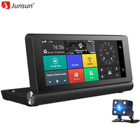 Junsun E28 6 86 Inch Car DVR Double Cameras 4G Supported Plus Android 5 0 GPS