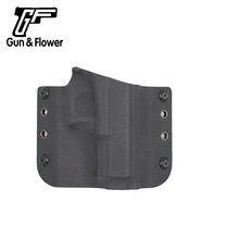 Funda OWB Kydex para pistola y flor, accesorios para pistola de tiro de caza, Glock 19/23/32, bolsa de mano derecha e izquierda