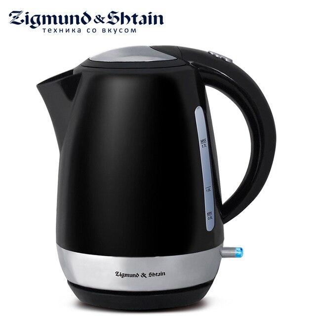 Zigmund & Shtain KE-317 PSB Электрический чайник, 2200 Вт, 1.7 л, Двусторонняя шкала уровня воды, Съемный фильтр, Кнопка открытия крышки на ручке, Автоотключение при закипании/при недостаточном количестве воды
