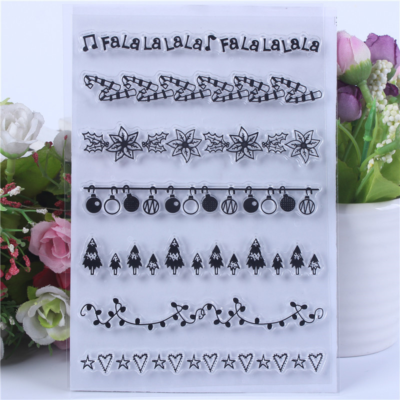DLKSDIY Christmas gifts Transparent Clear Stamp DIY Silicone Seals Scrapbooking Card Making Photo Album Decoration in Stamps from Home Garden