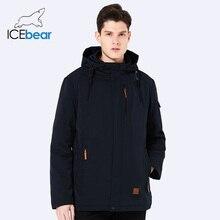 ICEbear 2018 Autumn Men s Solid Color Autumn Short Casual Thin Lapel Regular Sleeve Casual Fashion