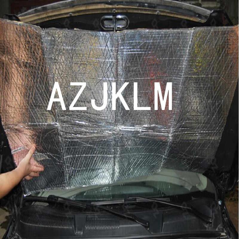 Mobil Van Suara Deadener Isolasi Kebisingan Mengurangi Pemeriksaan 5mm Ditutup Busa sel Didukung Self Adhesive Putih Alumium Tikar 100x30 cm