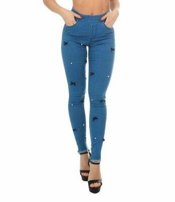 Jeans pour femmes avec petits arcs OEMEN 8422 expédition élastique de la russie