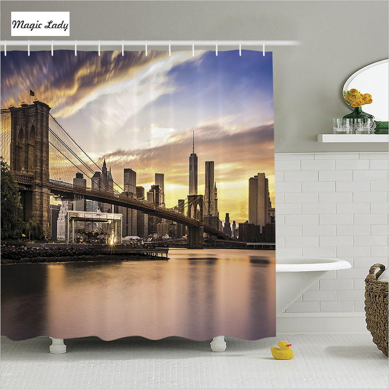 Shower curtain new york bathroom accessories brooklyn for Home decor new york