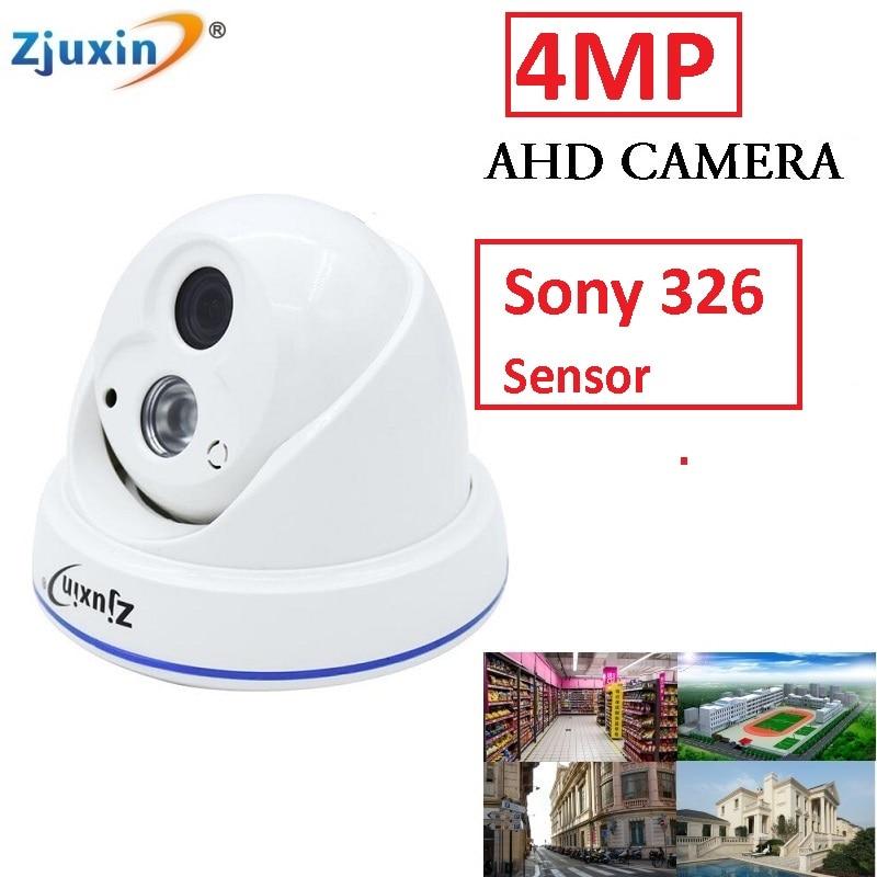 Zjuxin indoor SONY SENSOR 4MP AHD CAMERA USE 1 ARRAY LED 4MP CCTV Camera with 5MP 3.6mm lens easy to install 6in1 4ch 1080n ahd dvr kit 1080p sony sensor plastic dome indoor security camera use 1080p 3 6mm len 1pcs array led
