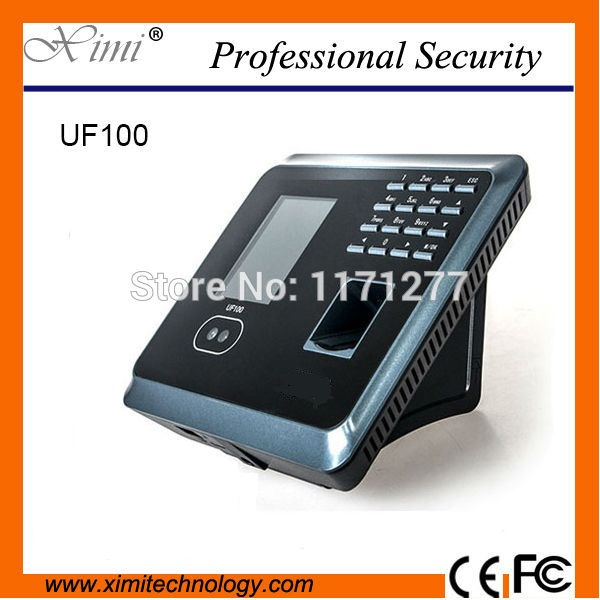 Standalone 2.8 TFT color screenWIFITCP/IP communication UF100 biometric time reader device face and fingerprint time attendance