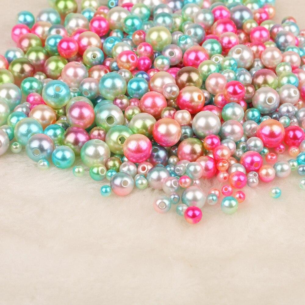50-500шт 4 6 8 10 12 мм ABS имитация жемчужные бусины круглые бусины ручной работы DIY ожерелье браслет ювелирных изделий делая аксессуары