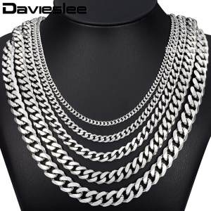 Chain Silver Gold Necklaces for Men Davieslee Jewelry