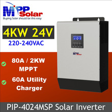 (MSP) 24v 5kva 4000w mppt Solar inverter  + mppt solar charger 80A + 60A battery charger parallel able