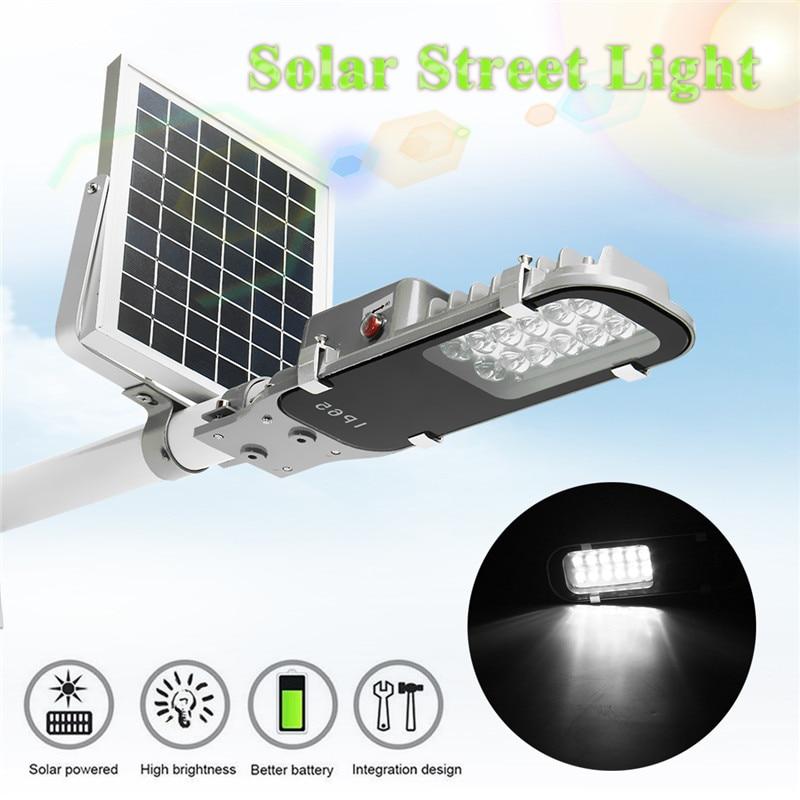 Mising 12 LED Solar Street Light 7.4V 5W Solar Powered Panel Outdoor Garden Walkway Lighting Waterproof Light Control