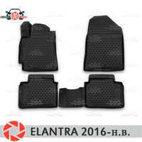 Tappetini per Hyundai Elantra 2016-tappeti antiscivolo poliuretano sporco di protezione interni car styling accessori