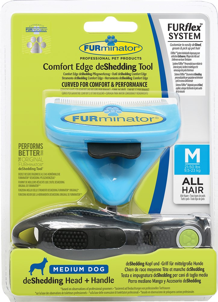 The tool against a molt of  FURminator FURflex Combos against moulting for dogs M.  Dog Accessories