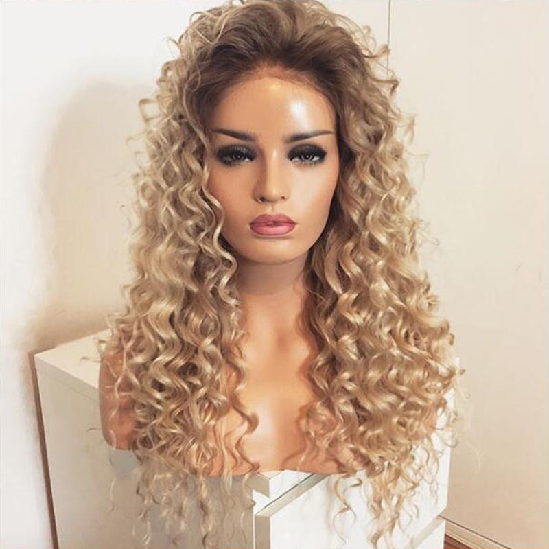blonde kinky curly