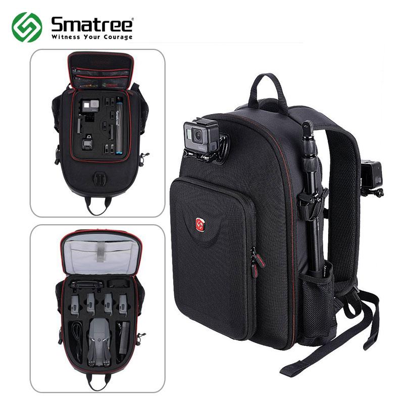 Smatree Hard Case Water-resistant Backpack for DJI Mavic Pro/GoPro Hero Session/ Hero 6/ 5/ 4/ 3/ 2/ 1/Tablet PC рюкзак case logic 15 6 evolution plus backpack bpep 115k