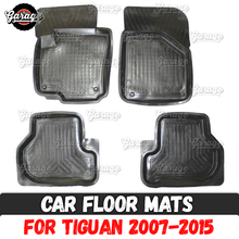 Car-Floor-Mats Accessories Case Carpet-Decoration Volkswagen Tiguan Rubber for Protect