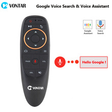 VONTAR G10 Voice Remote Control 2.4G Wireless Air Mouse Microphone Gyrosconpe IR Learning for Android tv box T9 H96 Max X96 mini(China)
