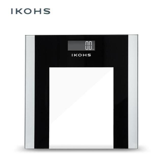 IKOHS ELEGANTWELLNESS Ванная комната весы научного интеллигентая (ый) электроника lcd цифровой Вес баланс Max Вес 180 кг с лентой