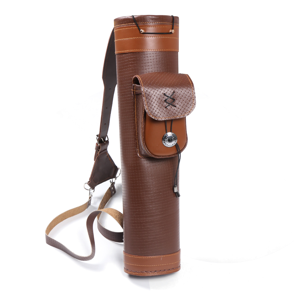 Beauty Leather backpack 24 piece archery arrow quiver holder suitable for compound horseback traditional bow outdoor hunting