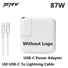 """USB-C RsFow 87 W Carregador Adaptador de Alimentação Para Macbook 12 """"13"""" 15 """"polegadas Com 1 M Cabo de Carga Para Relâmpago Apple Iphone X 8 7 6 Mais"""