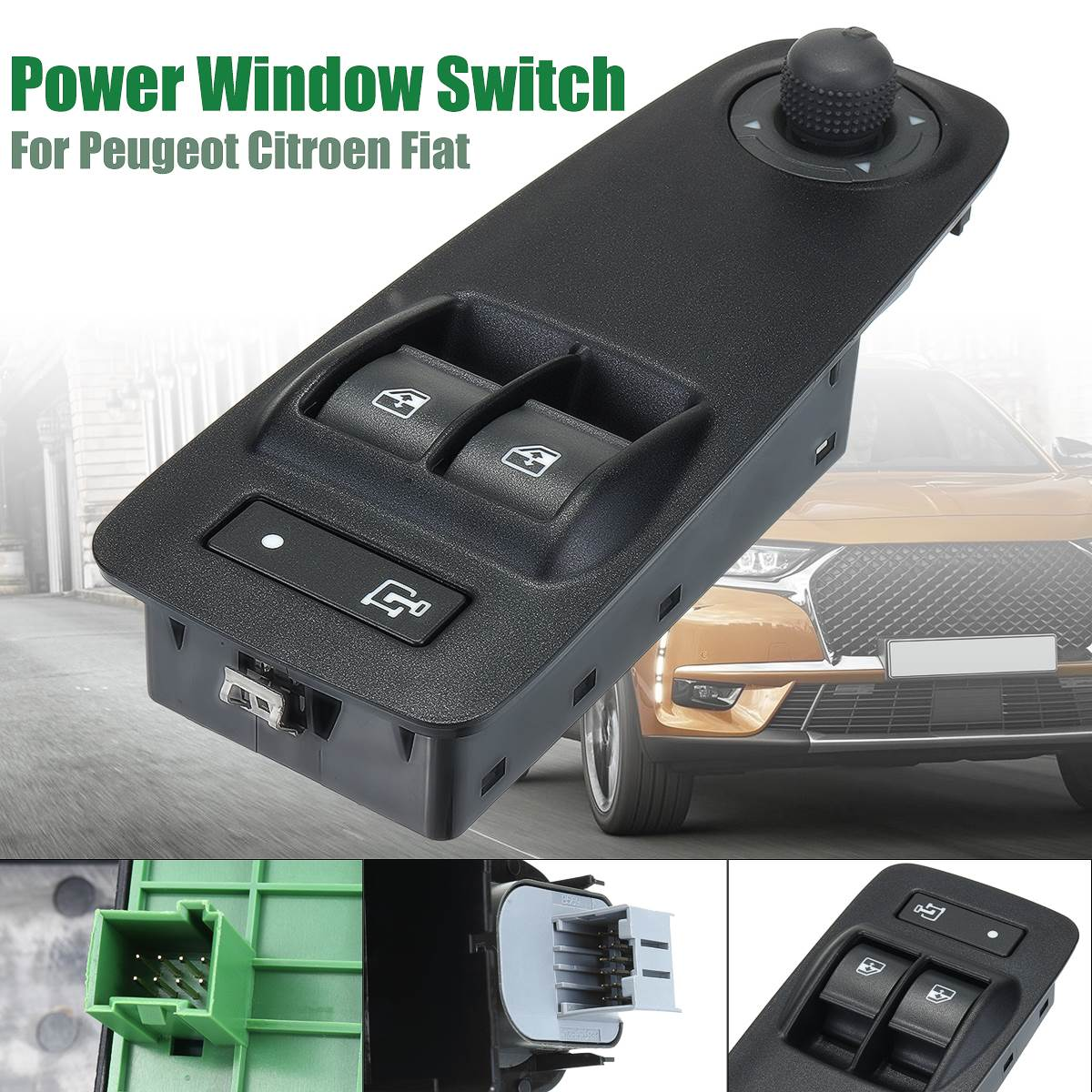 735487423 735487419 6490X9 Car Power Window Switch Black For Citroen/Peugeot/Fiat/Vauxhall Relay Boxer Doblo Ducato Combo MK3