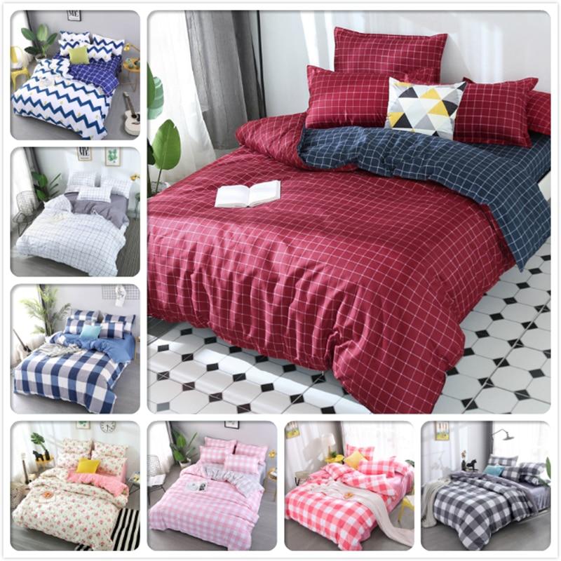 Big Double Size Duvet Cover Sheet Pillowcase 3/4pcs Bedding Set Soft Cotton Bed Linen Twin Queen King Quilt Pillow Case 220x240