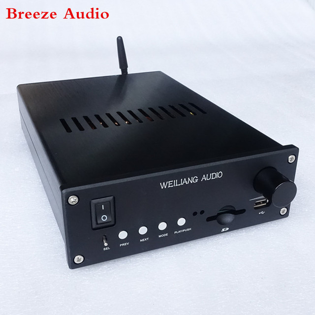 LM1875 amplifier with Bluetooth 4.2/RCA  input ES9023 DCA decoding Support SD card U disk play amp800