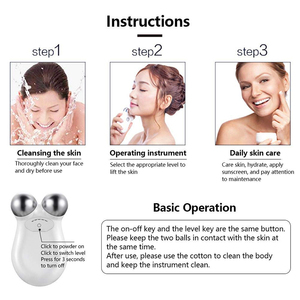Image 3 - Mini microcurrent face lift machine Skin Tightening Rejuvenation Spa USB Charging facial wrinkle remover device Beauty Massager