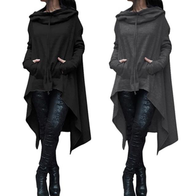 Women Basic Black Coats Spring Ladies Batwing Wool Oversized Coat Casual Pullover Winter Coat Jacket Loose Cape Outwear Cloak