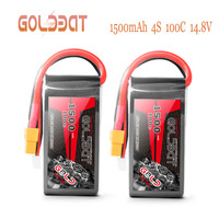 2UNITS GOLDBAT 14.8V Battery charger 1500mAh 4S Lipo Battery charger 100C Pack lipo with XT60 Plug for RC Car Truck Airplane FPV
