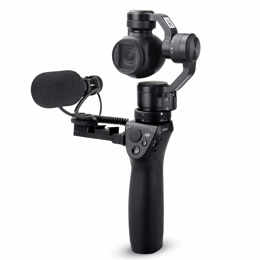 CVM-VM10 II Cardioid Directional Shotgun Video Microphone for DJI OSMO Mobile Plus Smartphone GoPro Micro Camera Black Mount