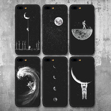 Space, Moon and Astronaut Phone Cases for iPhone