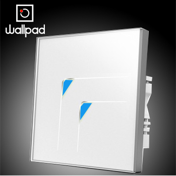 Top Wallpad 110V~250V 220V White Crystal Glass Wall Switch Light Switches,2 Gangs 1 Way Touch Wall Switch LED 10A,Free Shipping