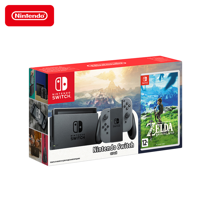 Game console For Nintendo Switch + The Legend of Zelda: Breath of the Wild игровая приставка nintendo switch серый the legend of zelda breath of the wild
