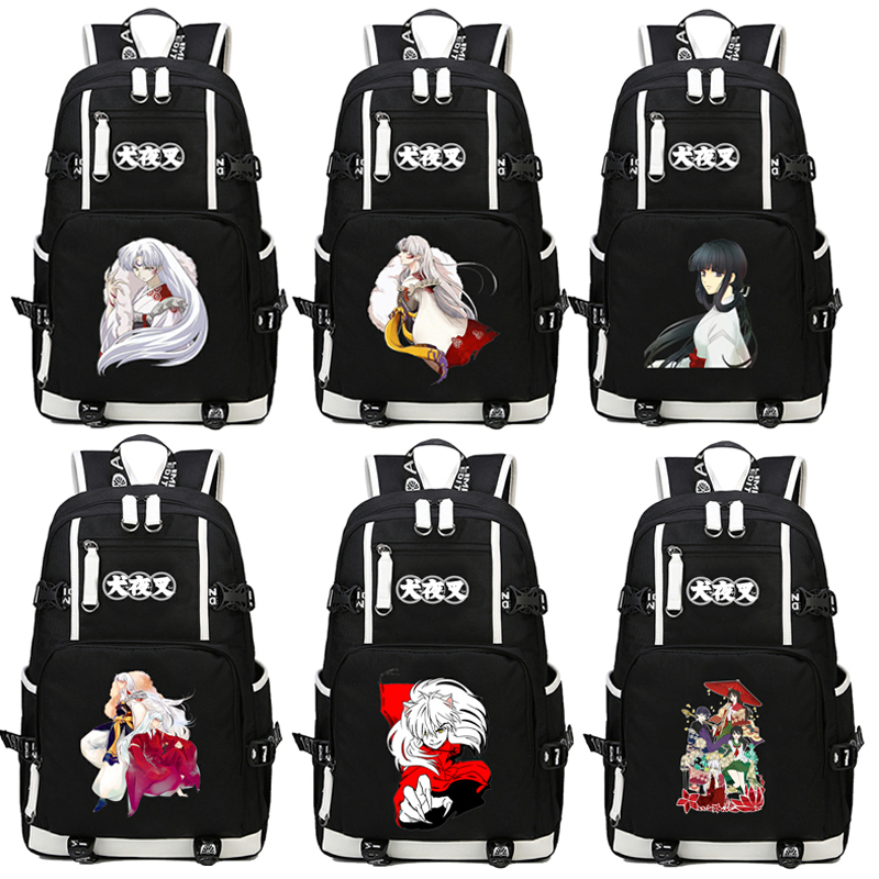 цены Japan Anime Inuyasha Backpack Cartoon School Bag Student Bags Shoulder Anti Water Boy Girls Students book bag package