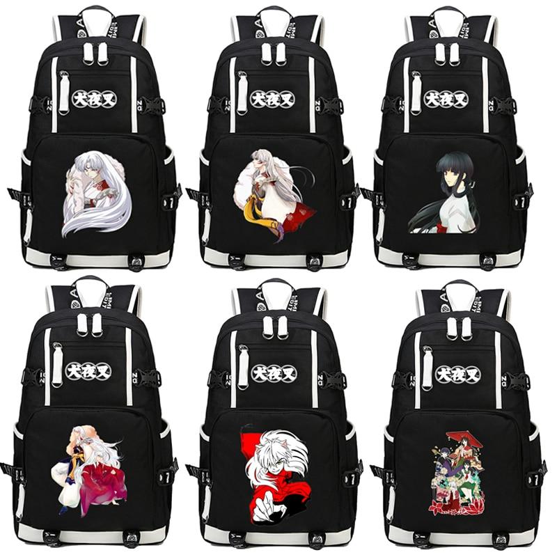 цены Japan Anime Inuyasha Backpack Cartoon School Bag Student Bags Shoulder Anti Water Boy Girls Students book bag package