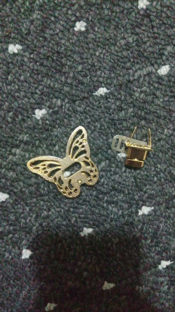 New  DIY Turn Gold Tone Clasp Purse Accessories Bag Belt Twist Lock Butterfly Gold 1PC photo review