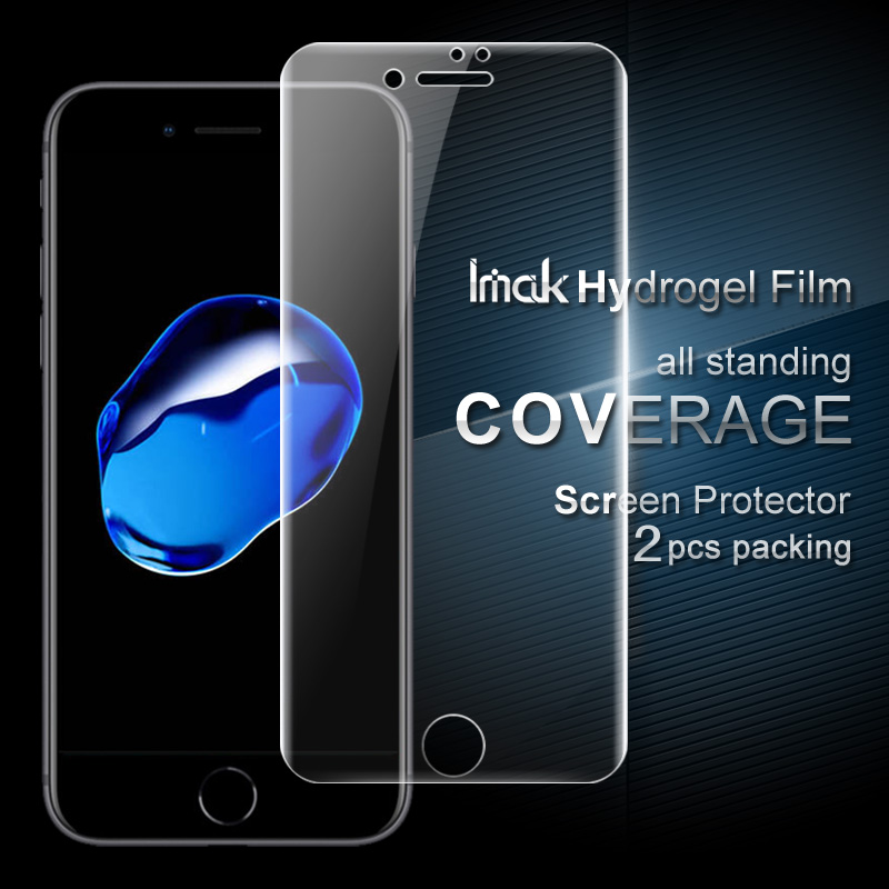 los angeles 2bfef 9d7e8 US $8.35 |IMAK Hydrogel Film For Apple iPhone 8 Plus iPhon 7 Plus Full  Cover Front/Back Soft Screen Protector For iPhone8 Plus 7 Plus Film-in  Phone ...