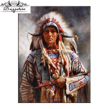 Full Square Drill 5D Diamond Painting Indians soldier Cross Stitch Mosaic Picture Of Rhinestone Embroidery Home Decor