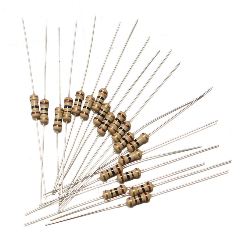 New Arrival 600Pcs 30 Values 5% 1/4W 10ohm~<font><b>1Mohm</b></font> Metal Film <font><b>Resistors</b></font> Resistance Assortment Kit image