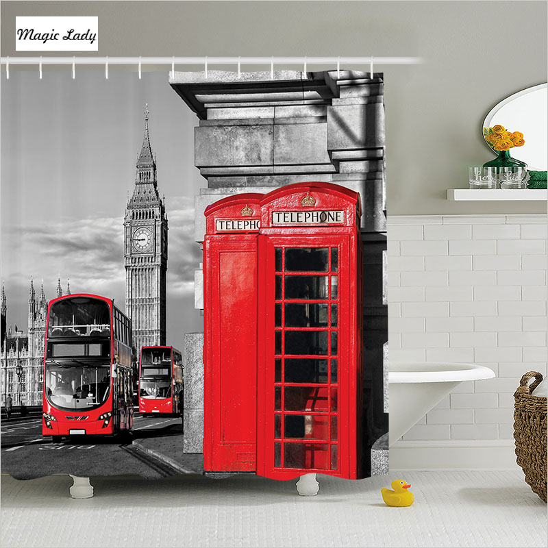 Shower curtain bathroom accessories uk london telephone for Red and grey bathroom accessories
