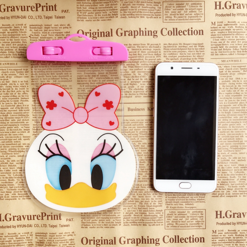 Mickey Minnie Waterproof Phone Bags with Strap Dry Pouch Cases Cover for iPhone X 7 8 6S Plus 5S Samsung S7 S8 S9 Snowproof Case in Phone Pouches from Cellphones Telecommunications