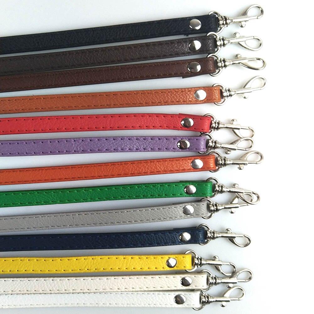 120cm PU Leather Shoulder Bag Thin Strap DIY Crossbody Adjustable Solid Color Belt Bag Accessories Colorful Strap