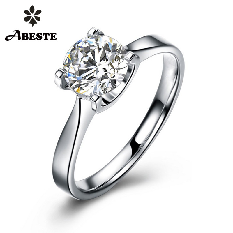 Engagement & Wedding Sincere 14k White Gold Over Diamond Engagement And Wedding Ring 2.50 Carat Pear Shaped To Ensure Smooth Transmission Jewelry & Watches