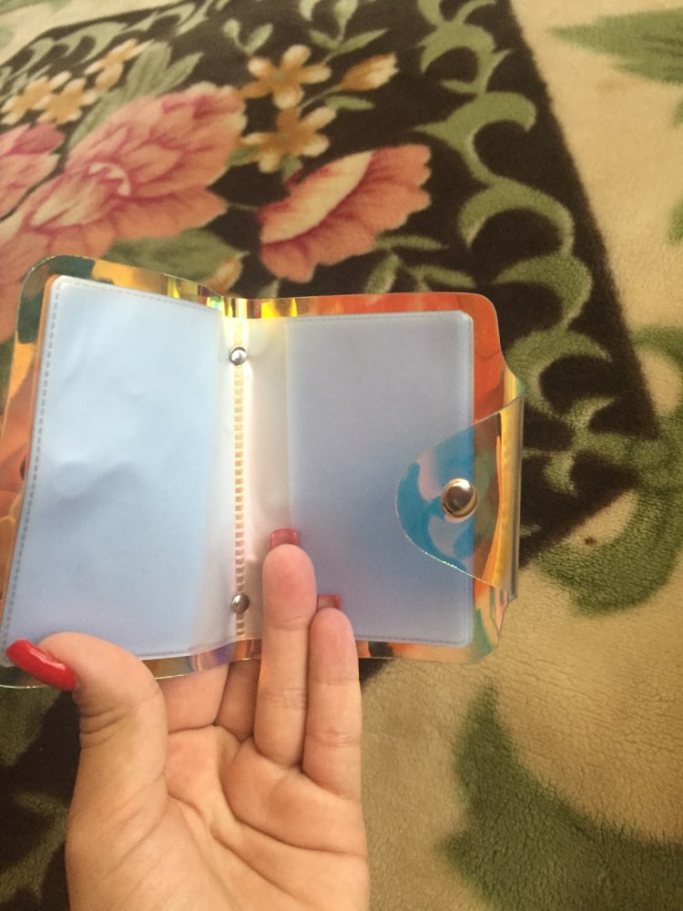 Shiny Women Card Holder Wallet ID Holder Female Student Cardholder for Lolita Cute Star Transparent Laser Bank Creditcardhoes photo review