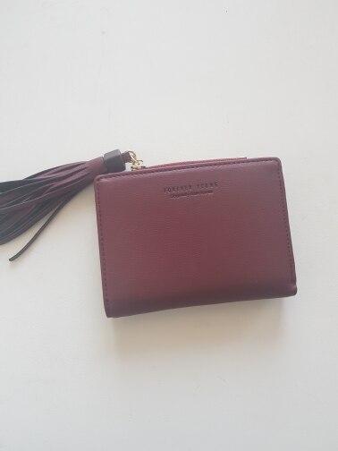 WEICHEN Pink Tassel Ladies Wallets Brand Designer Zipper Coin Pocket Card Holder Short Female Wallet Fashion Women Purses photo review