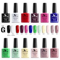12pcs/lot venalisa soak off gel nail polish 7.5ml 61508 nail uv gel lacquer wholesale nail art supply led nail gel polish