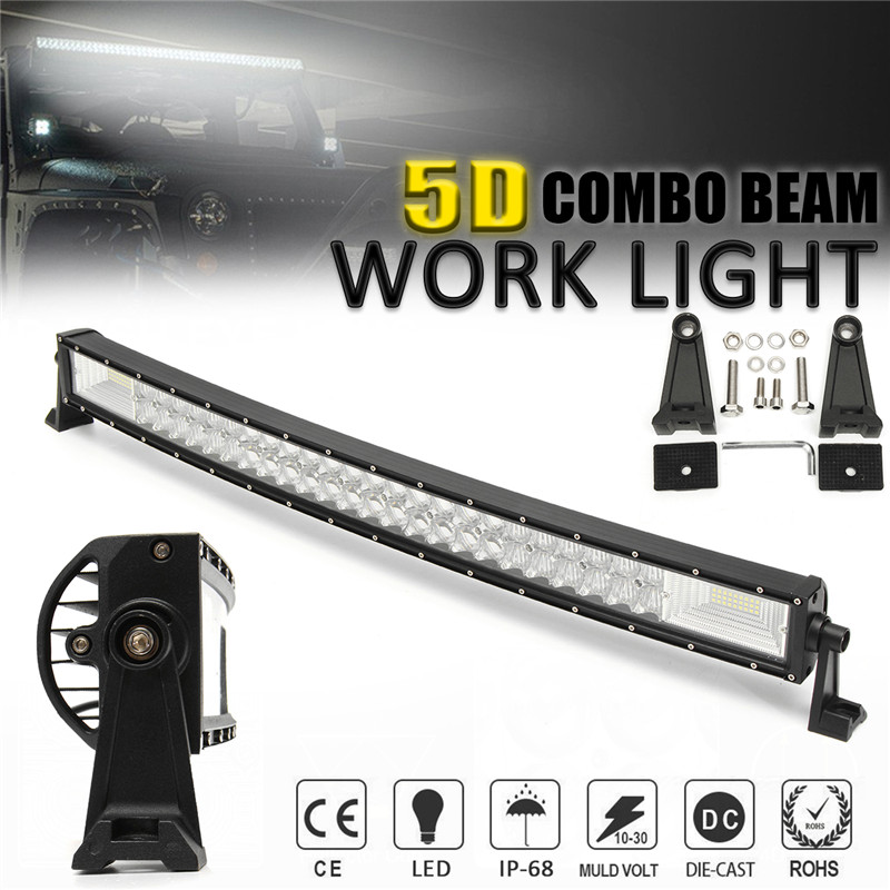 32 Inch 1070W 5D Curved LED Work Light Bar Spot Flood Combo Light Bar Work Light Offroad Driving Lamp SUV ATV Car Truck tripcraft promotion 20 inch 60w crees led single row work light bar spot flood combo offroad driving lamp suv atv 10v 30v