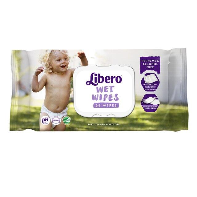 Влажные салфетки Libero Wet Wipes сменный блок, 64 шт.